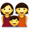 Family: Woman, Woman, Boy on LG G5