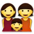 Family: Woman, Woman, Girl on LG G5