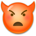Angry Face With Horns on LG G5