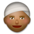 Person Wearing Turban: Medium-Dark Skin Tone on LG G5