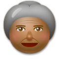 Old Woman: Medium-Dark Skin Tone on LG G5