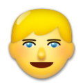 Blond-Haired Person on LG G5