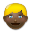 Blond-Haired Person: Dark Skin Tone on LG G5