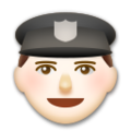 Police Officer: Light Skin Tone on LG G5