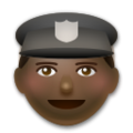 Police Officer: Dark Skin Tone on LG G5