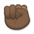 Raised Fist: Dark Skin Tone on LG G5