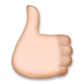 Reversed Thumbs Up Sign on LG G5