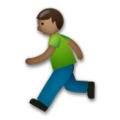 Person Running: Medium-Dark Skin Tone on LG G5
