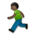 Person Running: Dark Skin Tone on LG G5
