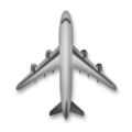 Up-Pointing Airplane on LG G5