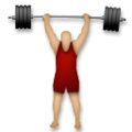 Person Lifting Weights: Medium-Light Skin Tone on LG G5