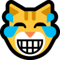 Cat Face With Tears of Joy on Microsoft Windows 10 Fall Creators Update
