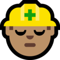 Construction Worker: Medium Skin Tone on Microsoft Windows 10 Fall Creators Update