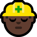 Construction Worker: Dark Skin Tone on Microsoft Windows 10 Fall Creators Update
