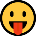 Face With Stuck-Out Tongue on Microsoft Windows 10 Fall Creators Update