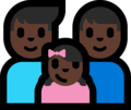 Family - Man: Dark Skin Tone, Man: Dark Skin Tone, Girl: Dark Skin Tone on Microsoft Windows 10 Fall Creators Update