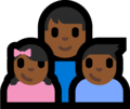 Family - Man: Medium-Dark Skin Tone, Girl: Medium-Dark Skin Tone, Boy: Medium-Dark Skin Tone on Microsoft Windows 10 Fall Creators Update