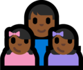 Family - Man: Medium-Dark Skin Tone, Girl: Medium-Dark Skin Tone, Girl: Medium-Dark Skin Tone on Microsoft Windows 10 Fall Creators Update