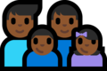 Family - Man: Medium-Dark Skin Tone, Man: Medium-Dark Skin Tone, Boy: Medium-Dark Skin Tone, Girl: Medium-Dark Skin Tone on Microsoft Windows 10 Fall Creators Update