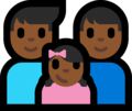 Family - Man: Medium-Dark Skin Tone, Man: Medium-Dark Skin Tone, Girl: Medium-Dark Skin Tone on Microsoft Windows 10 Fall Creators Update