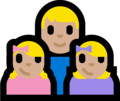 Family - Man: Medium-Light Skin Tone, Girl: Medium-Light Skin Tone, Girl: Medium-Light Skin Tone on Microsoft Windows 10 Fall Creators Update