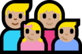 Family - Man: Medium-Light Skin Tone, Woman: Medium-Light Skin Tone, Girl: Medium-Light Skin Tone, Boy: Medium-Light Skin Tone on Microsoft Windows 10 Fall Creators Update