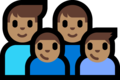 Family - Man: Medium Skin Tone, Man: Medium Skin Tone, Boy: Medium Skin Tone, Boy: Medium Skin Tone on Microsoft Windows 10 Fall Creators Update