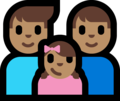 Family - Man: Medium Skin Tone, Man: Medium Skin Tone, Girl: Medium Skin Tone on Microsoft Windows 10 Fall Creators Update