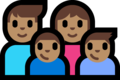 Family - Man: Medium Skin Tone, Woman: Medium Skin Tone, Boy: Medium Skin Tone, Boy: Medium Skin Tone on Microsoft Windows 10 Fall Creators Update