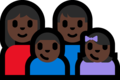 Family - Woman: Dark Skin Tone, Man: Dark Skin Tone, Boy: Dark Skin Tone, Girl: Dark Skin Tone on Microsoft Windows 10 Fall Creators Update