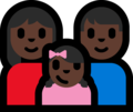 Family - Woman: Dark Skin Tone, Man: Dark Skin Tone, Girl: Dark Skin Tone on Microsoft Windows 10 Fall Creators Update