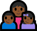 Family - Woman: Medium-Dark Skin Tone, Boy: Medium-Dark Skin Tone, Girl: Medium-Dark Skin Tone on Microsoft Windows 10 Fall Creators Update