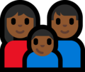 Family - Woman: Medium-Dark Skin Tone, Man: Medium-Dark Skin Tone, Boy: Medium-Dark Skin Tone on Microsoft Windows 10 Fall Creators Update