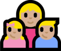 Family - Woman: Medium-Light Skin Tone, Girl: Medium-Light Skin Tone, Boy: Medium-Light Skin Tone on Microsoft Windows 10 Fall Creators Update
