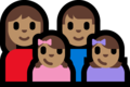 Family - Woman: Medium Skin Tone, Man: Medium Skin Tone, Girl: Medium Skin Tone, Girl: Medium Skin Tone on Microsoft Windows 10 Fall Creators Update