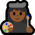 Woman Artist: Medium-Dark Skin Tone on Microsoft Windows 10 Fall Creators Update