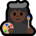 Woman Artist: Dark Skin Tone on Microsoft Windows 10 Fall Creators Update