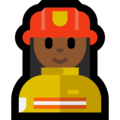 Woman Firefighter: Medium-Dark Skin Tone on Microsoft Windows 10 Fall Creators Update