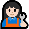 Woman Mechanic: Light Skin Tone on Microsoft Windows 10 Fall Creators Update
