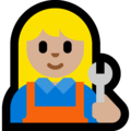 Woman Mechanic: Medium-Light Skin Tone on Microsoft Windows 10 Fall Creators Update