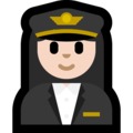 Woman Pilot: Light Skin Tone on Microsoft Windows 10 Fall Creators Update