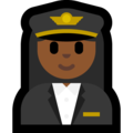 Woman Pilot: Medium-Dark Skin Tone on Microsoft Windows 10 Fall Creators Update