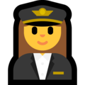 Woman Pilot on Microsoft Windows 10 Fall Creators Update