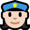 Woman Police Officer: Light Skin Tone on Microsoft Windows 10 Fall Creators Update