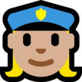 Woman Police Officer: Medium-Light Skin Tone on Microsoft Windows 10 Fall Creators Update
