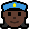 Woman Police Officer: Dark Skin Tone on Microsoft Windows 10 Fall Creators Update
