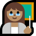 Woman Teacher: Medium Skin Tone on Microsoft Windows 10 Fall Creators Update