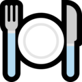 Fork and Knife With Plate on Microsoft Windows 10 Fall Creators Update