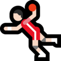 Person Playing Handball: Light Skin Tone on Microsoft Windows 10 Fall Creators Update