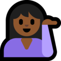 Person Tipping Hand: Medium-Dark Skin Tone on Microsoft Windows 10 Fall Creators Update
